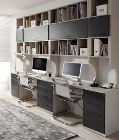 Mesa de estudio con estanteria encima www.xikara.net