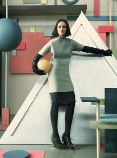 Vogue US Aug. 2007 - True to Form by Steven Meisel Model: Amber Valletta