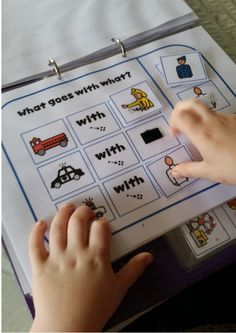 """What goes together""  questions will enable your kiddos to practice their vocabulary and association skills."