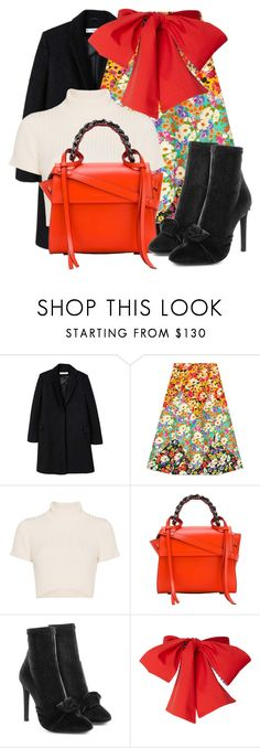 """Untitled #282"" by darkrosestyle ❤ liked on Polyvore featuring MANGO, Gucci, Staud, Elena Ghisellini and Giuseppe Zanotti"