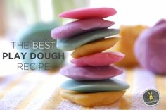We tried this recipe tonight. It makes a huge batch and it feels awesome. This is a keeper! The best playdough recipe   How to Make play dough   Tinkerlab.com