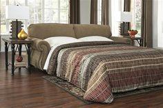 Wynndale - Caramel Wood Queen Sofa Sleeper