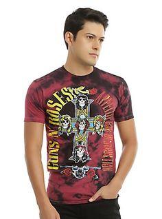 Guns N' Roses Appetite For Destruction Tie Dye T-Shirt, TIE DYE