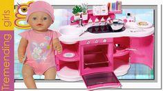 Baby Born Cocina Interactiva y Muñeca Interactiva - juguetes Baby Born t...