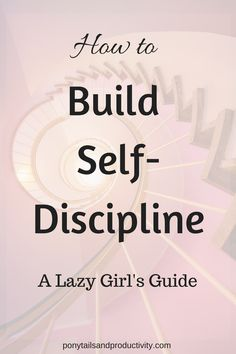 How to Build Self-Discipline (the lazy girl's guide) - Ponytails and Productivity If there's one thing CEOs, top athletes, and powerhouses across the world have in common, it's self-discipline. You can build it! Good Habits, Healthy Habits, Self Development, Personal Development, Leadership Development, Self Actualization, Frases Humor, Self Discipline, Lazy Girl