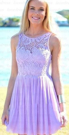 Lace Homecoming Dresses,Lovely Bridesmaid Dress,Short Prom Dress,SImple Homecoming