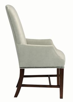 style desk chair side view