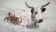 Nguni cow (oil on canvas) Cows, Oil On Canvas, Painting, Animals, Art, Art Background, Animales, Animaux, Painting Art