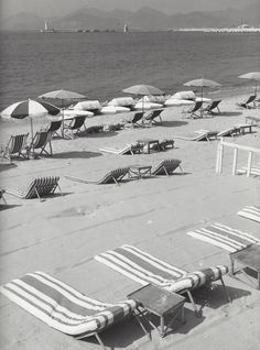 """ Beach of Cannes "" France about 1955-1958. photo: Kees Scherer"