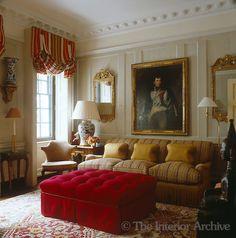 John Stefanidis ~ A small panelled drawing room reveals its Georgian origins