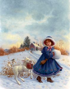 """""""Mary Had A Little Lamb"""" by Ruth Sanderson"""