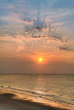 Levé de soleil en Caroline du Sud.