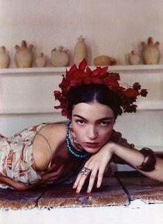 Inspired by Frida Kahlo, Harper's Bazaar