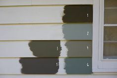 behr paint color combinations | Wild Rice (for reference) 2.Sage Gray 3. Dusty Mountain 4. Squirrel ...