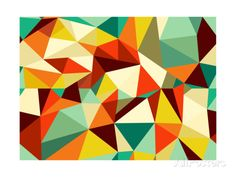 Trendy Vintage Geometric Seamless Pattern Art Print at AllPosters.com