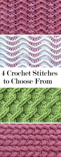 4 Crochet Stitches to Learn