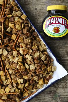 Marmite Chex Mix tastes like Worcester Sauce Twiglets! from foodiewithfamily.com