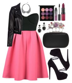 """""""Untitled #4396"""" by natalyasidunova ❤ liked on Polyvore featuring WithChic, Osklen, MAC Cosmetics, Yves Saint Laurent, Giuseppe Zanotti, DANNIJO, Alexander McQueen, Charlotte Russe, Rimmel and Monsoon"""