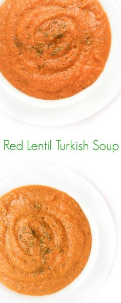 Scented with mint and cumin, this hearty Turkish Red Lentil Soup is packed with vegetables and loaded with protein.