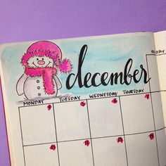 Sharing with you how I've set up my bullet journal for December and which spreads I've added.