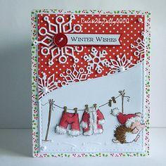 A Scrapjourney: Penny Black Christmas Card Crafts, Xmas Cards, Handmade Christmas, Holiday Cards, Penny Black Cards, Snowflake Cards, Beautiful Handmade Cards, Scrapbook Cards, Scrapbooking