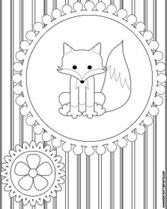 Lots of free coloring pages and original craft projects, crochet and knitting patterns, printable boxes, cards, and recipes. Fox Coloring Page, Pattern Coloring Pages, Free Coloring Pages, Printable Coloring Pages, Coloring Sheets, Adult Coloring, Coloring Books, Hand Embroidery Patterns, Applique Patterns