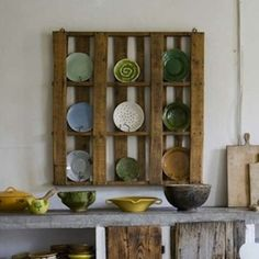 Driven By Décor: DIY Furniture & Home Accessories Made with Wood Pallets Pallet Storage, Pallet Shelves, Pallet Cabinet, Crate Shelving, Pallet Dresser, Rustic Shelving, Wood Shelves, Diy Pallet Projects, Home Projects