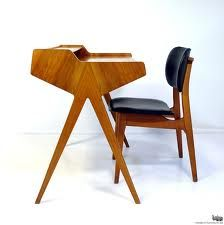 Danish Modern Desk and Chair.
