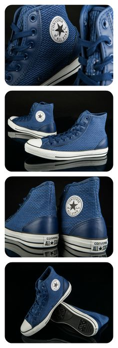Same beloved silhouette, now with a bold, new design. Get the Converse All Star Overlay Hi Más Outfits With Converse, Converse All Star, Converse Shoes, Men's Shoes, Blue Converse, Converse Chuck, Fashion Moda, Men's Fashion, Fashion Shoes