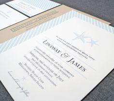 Lindsay Starfish Wedding Invitation  Beach by CricketPrinting, $5.00