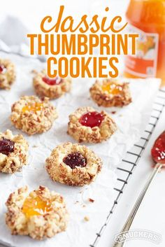 This Classic Thumbprint Cookie recipe from Smucker's are a sweet treat for a bake sale or pot luck this summer!