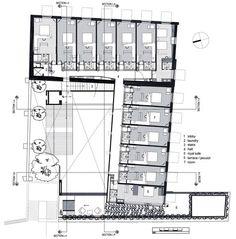 La Purificadora Boutique Hotel Mexico By Serrano Monjaraz Sma C ~ Clipgoo Croquis Architecture, Hotel Design Architecture, Architecture Plan, Hotel Plans, Hotel Floor Plan, The Plan, How To Plan, Plan Plan, Hotel Room Design