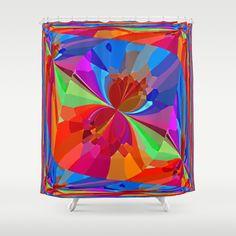 art by #Robert S. #Lee butterflies shower curtain