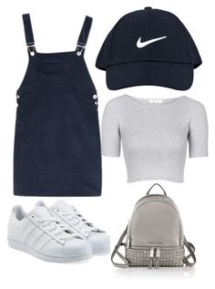 """Untitled #33"" by sohaila-el-m on Polyvore featuring NIKE, Topshop, adidas Originals, MICHAEL Michael Kors, women's clothing, women, female, woman, misses and juniors"
