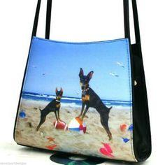 Miniature Pinscher Purse Handbag  Minn Pinn Show Dogs Loyal Angels Companion Pet