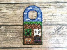 Minecraft inspiriert Perler Bead Türschild