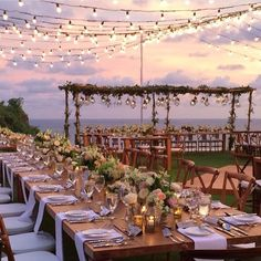 Wedding inspiration for couples planning the perfect Bali Wedding - Piper L. : Wedding inspiration for couples planning the perfect Bali Wedding - Bali Wedding, Wedding Table, Wedding Ceremony, Dream Wedding, Wedding Rustic, Outdoor Wedding Reception, Wedding Dinner, Outdoor Wedding Lights, Wedding On The Beach