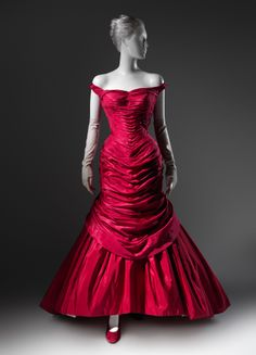 "Charles James (American, born Great Britain, 1906–1978). ""Tree"" evening dress, 1955. Silk: rose pink taffeta; white satin; synthetic: red, pink, and white tulle. The Metropolitan Museum of Art, New York. Brooklyn Museum Costume Collection at The Metropolitan Museum of Art, Gift of the Brooklyn Museum, 2009; Gift of Mrs. Douglas Fairbanks Jr., 1981 (2009.300.991) #CharlesJames"