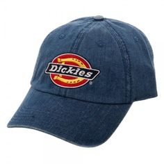 9f85dfc86416e7 Dickies Icon Denim Adjustable Cap Hat Demin Blue Jean Color Officially  Licensed #Dickies #BaseballCap