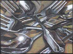 JessicaSiverware Lisa Milroy, Spoon Drawing, Ap Art, Gcse Art, Art Themes, Level 3, Art Sketchbook, Cutlery, Art Inspo
