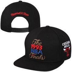Mitchell   Ness Chicago Bulls 1993 NBA Finals Commemorative Snapback Hat -  Black 91292ea844ffb