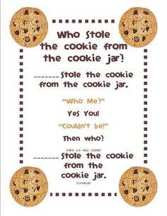 Who stole the cookies from the cookie jar? Was a fun game.