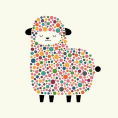 Bubble Sheep en Impression sur toile par Andy Westface | JUNIQE