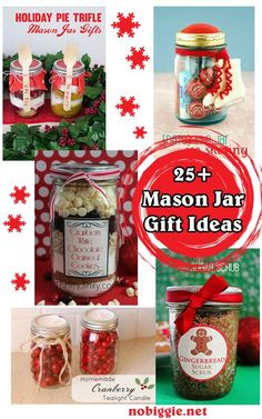 25+ Mason Jar Gift Ideas for sweet treats and more. So many creative gift ideas packed into a darling jar.