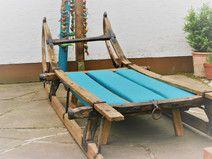 Holzschlitten - Couch
