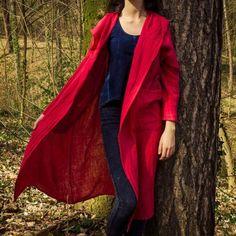 Plášť z čisté bavlny s kapucí Duster Coat, Blazer, Jackets, Dresses, Women, Fashion, Down Jackets, Vestidos, Moda