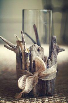 Dekoration Tisch oder Fensterdeko Treibholz mit Band verzieren Sommer Bastelidee Do You Have the Rig Beach Crafts, Summer Crafts, Diy Crafts, Stick Crafts, Creative Crafts, Summer Diy, Yarn Crafts, Driftwood Projects, Driftwood Art