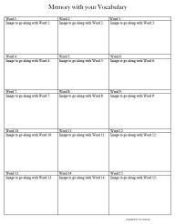 vocab templates