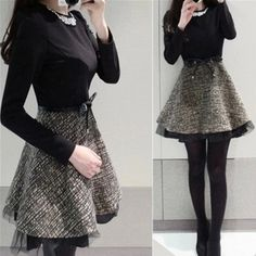 Korean sweet fashion stitching dress