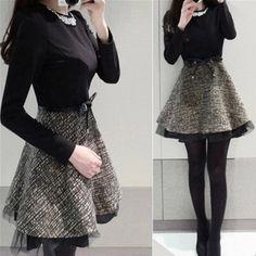 Korean sweet fashion stitching dress
